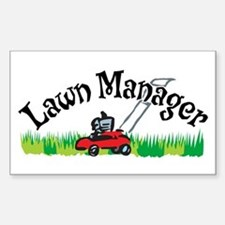 Lawn Manager Rectangle Decal