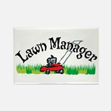 Lawn Manager Rectangle Magnet