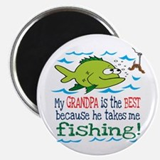 My Dad Takes Me Fishing Magnet