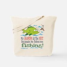My Dad Takes Me Fishing Tote Bag