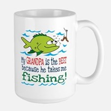 My Dad Takes Me Fishing Large Mug