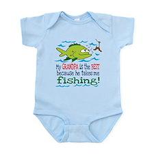 My Dad Takes Me Fishing Infant Bodysuit