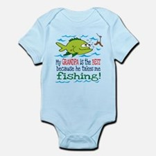 My Dad Takes Me Fishing Infant Bodysuit