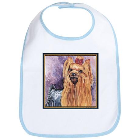 Yorkshire Terrier Dog Painting Bib