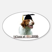 Brittany Grad 08 Oval Decal