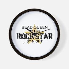Bead Queen Rock Star Wall Clock