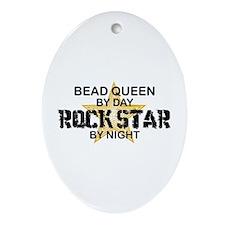 Bead Queen Rock Star Oval Ornament