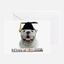 Bulldog Grad 08 Greeting Card