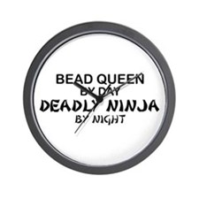 Bead Queen Deadly Ninja Wall Clock