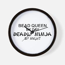 Bead Queen Deadly Ninja Wall Clock