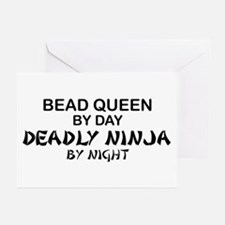 Bead Queen Deadly Ninja Greeting Cards (Pk of 10)