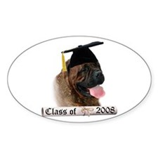 Bullmastiff Grad 08 Oval Decal