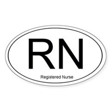 Registered Nurse Oval Decal