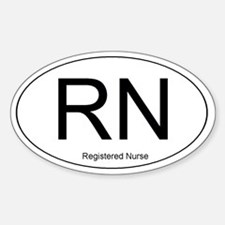 Registered Nurse Oval Decal
