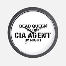 Bead Queen CIA Agent by Night Wall Clock