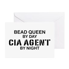 Bead Queen CIA Agent by Night Greeting Cards (Pk o