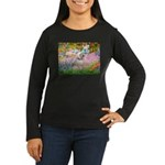 Garden / Lhasa Apso Women's Long Sleeve Dark T-Shi
