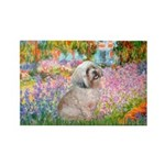 Garden / Lhasa Apso Rectangle Magnet