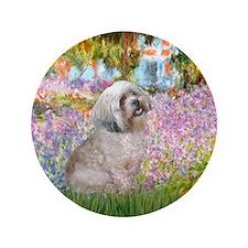 """Garden / Lhasa Apso 3.5"""" Button"""