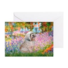 Garden / Lhasa Apso Greeting Cards (Pk of 10)