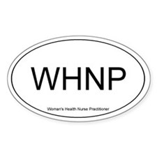 Wm's Health Nurse Practitioner Oval Decal