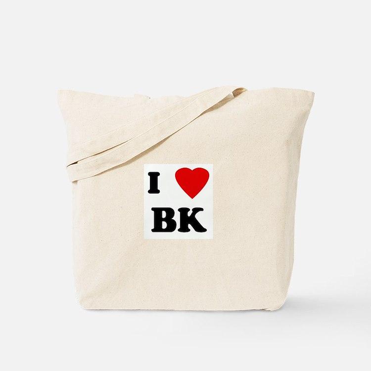 I Love BK Tote Bag
