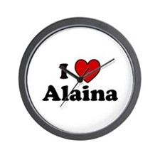 I Heart Alaina Wall Clock