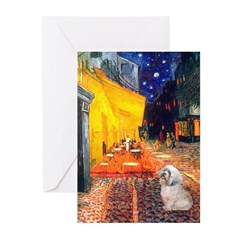 Cafe / Lhasa Apso Greeting Cards (Pk of 10)