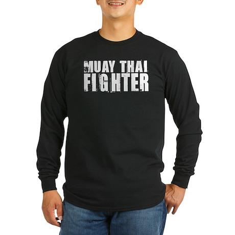 Muay Thai Fighter Long Sleeve Dark T-Shirt