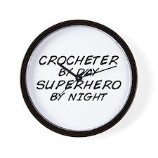 Crochet Superhero by Night Wall Clock