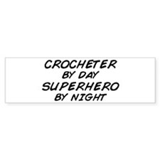 Crochet Superhero by Night Bumper Bumper Sticker