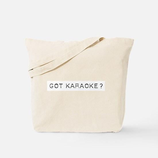 Got Karaoke Design Tote Bag