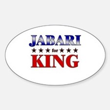 JABARI for king Oval Decal