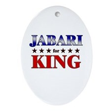 JABARI for king Oval Ornament