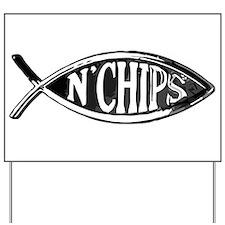 Fish n' Chips Yard Sign
