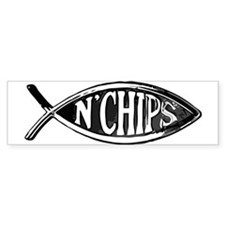 Fish n' Chips Bumper Bumper Sticker