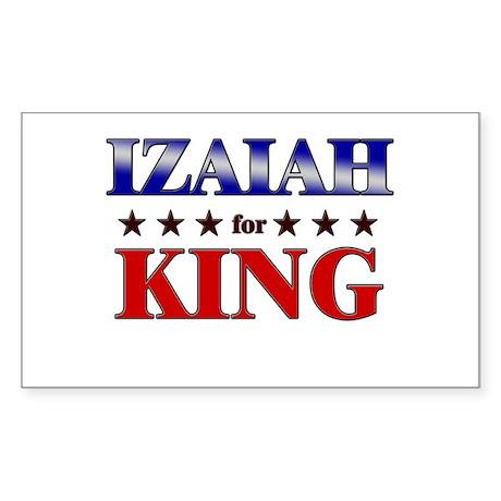 IZAIAH for king Rectangle Sticker