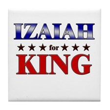 IZAIAH for king Tile Coaster