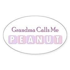 Grandma Calls Me Peanut Oval Decal