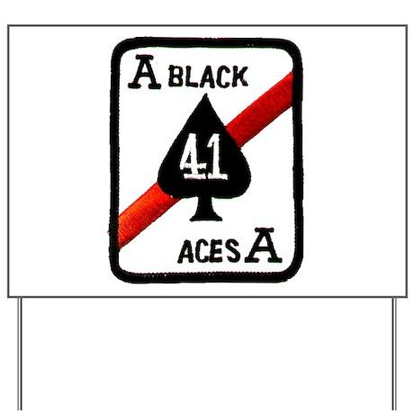 VF 41 / VFA 41 Black Aces Yard Sign