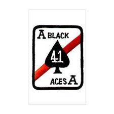 VF 41 Black Aces Rectangle Decal