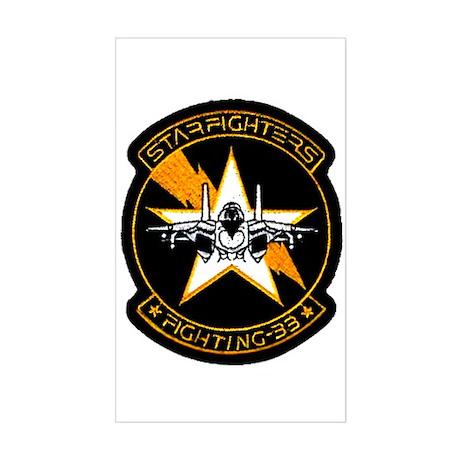 VF 33 Starfighters Rectangle Sticker