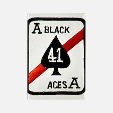 VF 41 Black Aces Rectangle Magnet