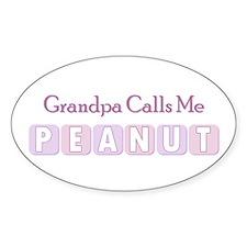 Grandpa Calls Me Peanut Oval Decal