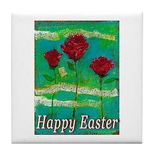 Easter Rose Tile Coaster