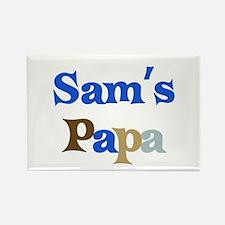 Sam's Papa Rectangle Magnet