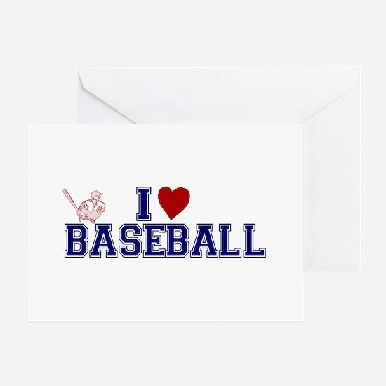 I Love Baseball Greeting Card