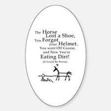 Bad Horse Day Oval Decal