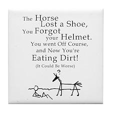 Bad Horse Day Tile Coaster