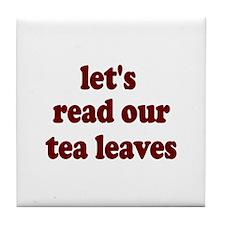 Tea Leaves Tile Coaster